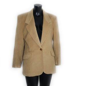Neiman Marcus Vintage Camel Hair Blazer Tan 10